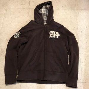 Reversible Brown & Cream Aero hoodie